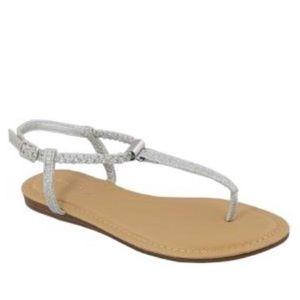 Women's Braided-Strap Gardenia Sandal - Silver